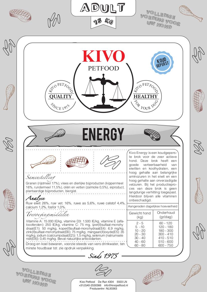 KIVO energy natuurlijk geperst - Foto 1