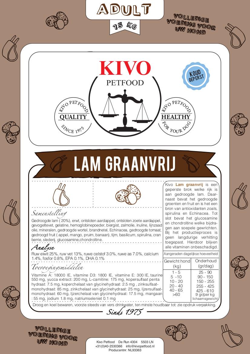 Kivo graanvrij met lam  - Foto 1