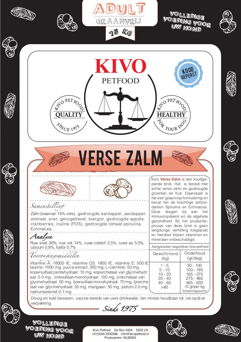 Kivo graanvrij met verse zalm - Foto 1