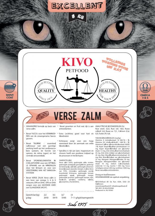 Kivo kat excellent met verse zalm  - Foto 1