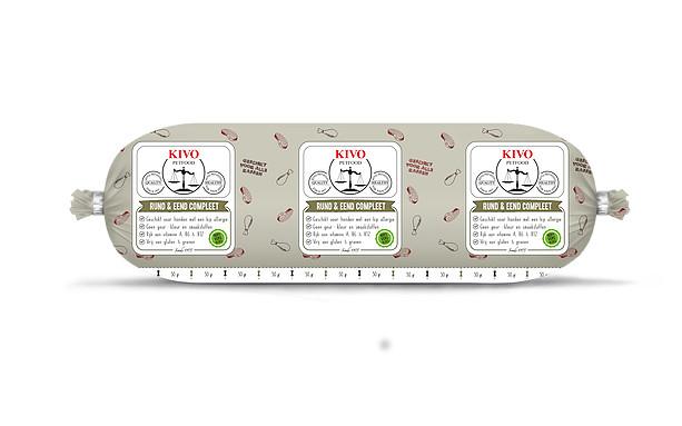 KIVO rund eend compleet, kilo verpakking  - Foto 1