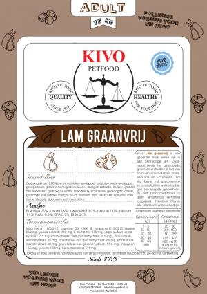 Kivo graanvrij met lam