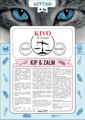 Kivo kip/zalm kattenvoer junior premium