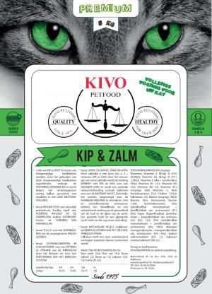 Kivo kip/zalm kattenvoer premium